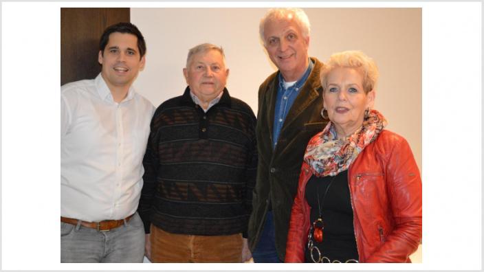 (v. l. n. r.) Thomas Schmalen, Hans Oberhofer, Dr. Robert Bininda, Marianne Ludemann
