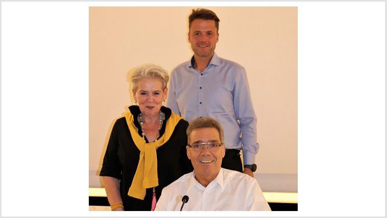 Foto: Michael Schmalen (vorne), Marianne Ludemann, Guido Palmersheim